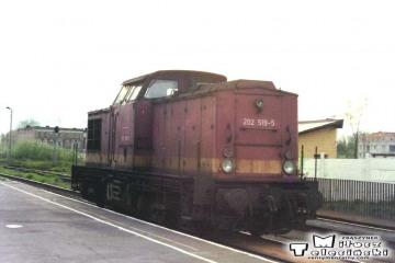 Kostrzyn 03.05.1992. Lokomotywa BR-112 od pociągu służbowego z Kietz.