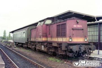 Kostrzyn 03.05.1992. Pociąg służbowy z Kietz.