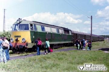 Ełk Zachodni 18.06.1993. SU45-138 z osobowym do Ełku.