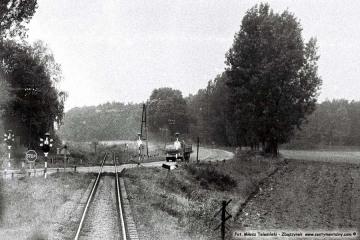 Bobowicko 21.09.1986. Jechaliśmy w kabinie lokomotywy pociągu osobowego Międzychód - Międzyrzecz.