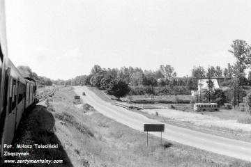 Tuligłowy - most na Wojsławce, STW dalej za drzewami 14.06.1990
