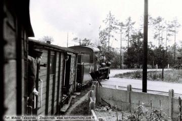 Trzcianka Zachodnia w dniu 13.09.1986, podczas obchodów 100 rocznicy kolejki przypadającej w dniu 23.10.1886.