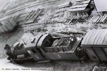 Px48-1724 Widok z wieży wodnej na parowozowni w Opalenicy w dniu 03.07.1986. Podczas wchodzenia bardzo mi pomógł robotnik stacyjny Pan Maryś.