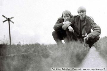 Na szlaku Śliwno - Duszniki Wlkp, ja z kolegą z Pasłęka w dzień imprezy z okazji 100 rocznicy Kolejki Opalenickiej w dniu 13.09.1986, przypadającej w dniu 23.10.1986.