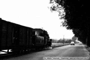 Pociąg specjalny w dniu 13.09.1986 podczas obchodów 100 rocznicy kolejki, przypadającej 23.10.1986. Fotka wykonana na odcinku Trzcianka - Duszniki Wlkp