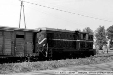 Rudniki Dwór, pociąg z Opalenicy do Lwówka we wrześniu 1986.