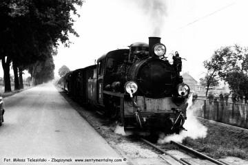 Pociąg specjalny w dniu 13.09.1986 na odcinku Opalenica - Rudniki Dwór podczas obchodów 100 rocznicy kolejki, przypadającej 23.10.1986.