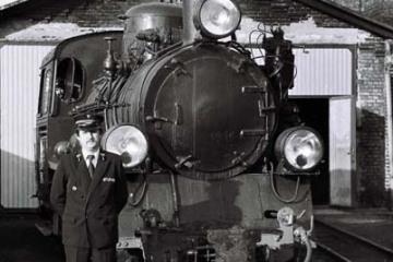 Pan Leszek Przybylski - zawiadowca lokomotywowni w dniu 11.09.1986.