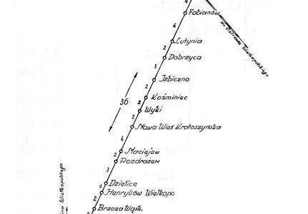 Plan kolejki Krotoszyńskiej
