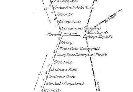 Plan kolejki Kwidzyńskiej