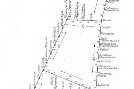 Plan kolejki Mławskiej