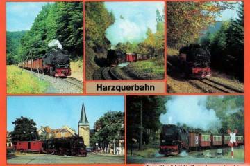 Kartka pocztowa Wernigerode i okolic z lat 80 tych.