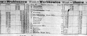 Rozkład z 1941 r. - zima.