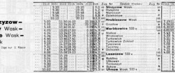 Rozkład z 1942 r. - zima