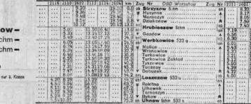 Rozkład z 1944/45 r. - zima