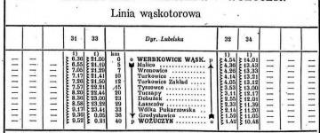 Rozkład z 1946 roku.