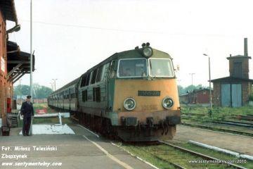 Gryfice 07.06.1991. Wieczorny pociąg do Kołobrzegu.