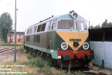 Zielona Góra 17.06.1995. Przy lokomotywowni. SU45-141 z lokomotywowni Jelenie góra.