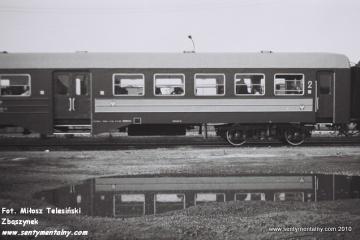 Pociąg specjalny Gniezno - Żnin na stacji Gniezno Winiary w dniu 09.09.1988.