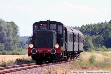 Pociąg specjalny opuszcza Międzyrzecz w stronę Gościkowa w dniu 23.06.2019