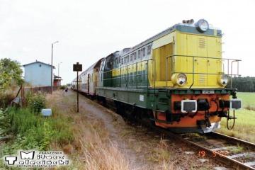 Chociszewo - Rogoziniec. SP32-088 z osobowym do Gorzowa w dniu 19.09.2002.