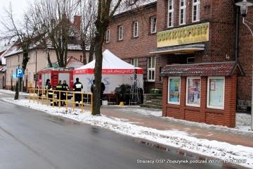 Strażacy przy domu kultury w Zbąszynku w dniu 15.01.2017