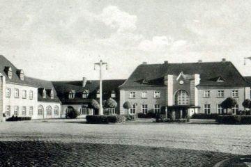 Plac Dworcowy w latach 40 tych,