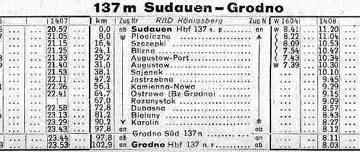 Rozkład z 1944/45 rok