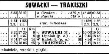 Rozkład z 1939 roku