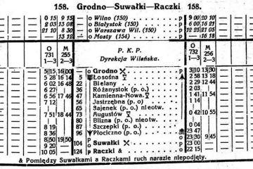 Rozkład z 1923 roku
