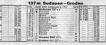 Rozkład z 1943 roku