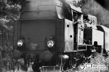 Pszczew 08.08.1986. Pociąg do Międzychodu.