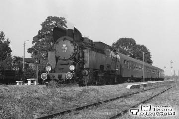 Wierzbno 03.10.1987. Tkt48-28 z pociągiem specjalnym Zbąszynek - Międzyrzecz - Wierzbno - Międzychód - Wierzbno - Skwierzyna - Wierzbno - Międzyrzecz - Zbaszynek.