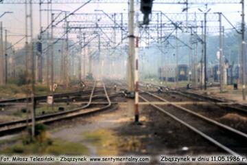 Widok w stronę nastawni Zk-1. 11.05.1986.