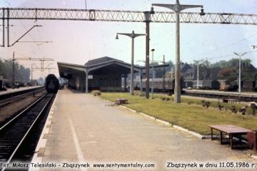 Widok peronu drugiego. 11.05.1986.