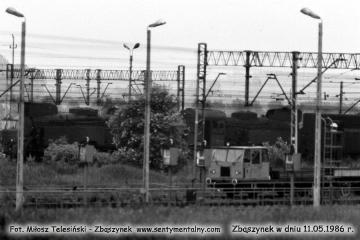 Widok w stronę zasieków węglowych, punktu kontrolnego jednostek elektrycznych 11.05.1986