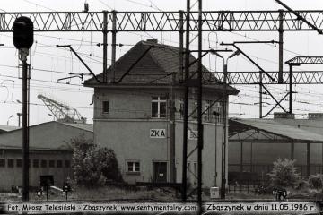 Nastawnia ZKA w dniu 11.05.1986.