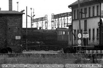 Widok w stronę lokomotywowni w dniu 11.05.1986