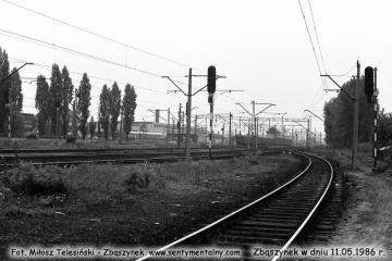 Widok w stronę nastawni ZKA, jednostka z Rzepina w dniu .11.05.1986