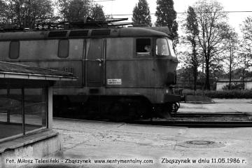 Koniec peronu pierwszego w dniu 11.05.1986.