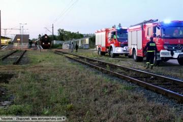 Zbąszynek, podczas wodowania w dniu 25.05.2019 Pociąg specjalny relacji Środa Wlkp. - Guben zorganizowany przez Lausitzer Dampflok Club z turystami z Niemiec