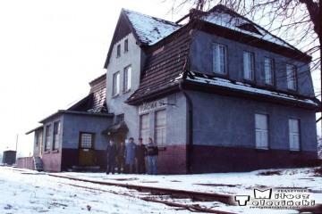 Bukowa Śląska 19.02.1992. Z Ddrużyną pociągu Namysłów - Kępno.