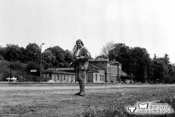 Ja w Sycowie 11.10.1990 . Już coraz więcej prognoz pogrążało pracowników stacji, nie pewna wizja na najbliższy czas, dążąca do likwidacji tej kolei.
