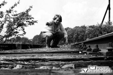 """Ja w Sycowie 11.10.1990 . Ostatnie zapamiętane zdjęcia """"żywej"""" stacji. potem była już trakcja spalinowa i niszczejące perony."""
