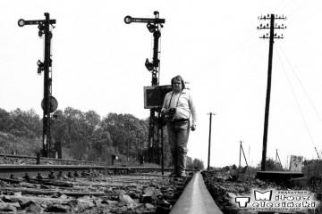 Ja w Sycowie 11.10.1990 . Patrząc z kierunku Bukowej Śląskiej.