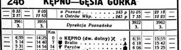 Kępno - Gęsia Górka 1936 zima