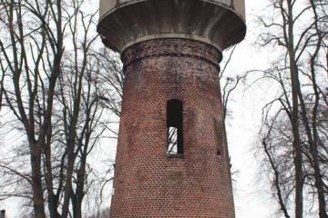 Lubniewice 07.02.2021 . Wieża ciśnień, pozostałość po kolei Sulęcin - Rudnica.