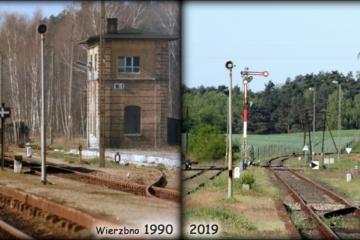 Wierzbno 1986 i 2019