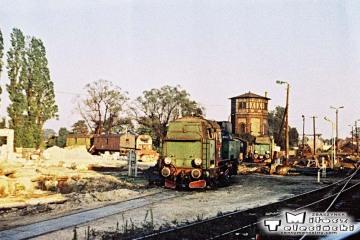 Tkt-48-28 od pociągu specjalnego (Zbąszynek - Międzyrzecz - Wierzbno - Międzychód - Wierzbno - Skwierzyna - Wierzbno - Międzyrzecz - Zbąszynek) na stacji Międzyrzecz 03.10.1987