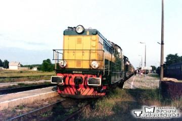 Bełżec 28.06.1992. Pociąg pośpieszny do Warszawy.